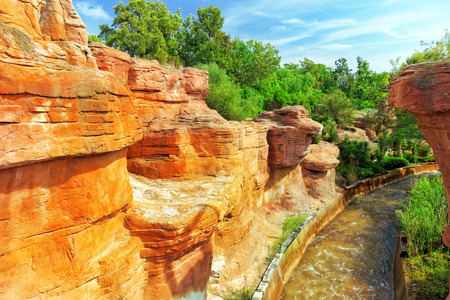 midwest: Typical Midwest and Wild west outdoor view. Stock Photo