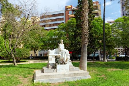 gomez: Statue in park  of Valencia -for Ramon Gomez Ferrer