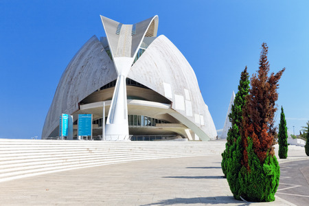 VALENCIA, SPAIN - SEPT 10: Palace of Arts (El Palau de les Arts Reina Sofia) - City of Arts and Sciences. September 10, 2014 in Valencia, Spain. Every year,Valencia welcomes more than 4 million visitors.