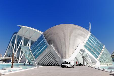VALENCIA, SPAIN - SEPT 10: Science Museum (El Museu de les Ciències Príncipe Felipe) - City of Arts and Sciences. September 10, 2014 in Valencia, Spain. Every year,Valencia welcomes more than 4 million visitors.