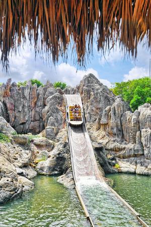 PORT-AVENTURA, SPAIN - SEPT, 06:Amusement park in Spain near Salou- Port Aventura. One of the biggest park in Europe. Event September 06, 2014 in Port-Aventura, near Salou,  Spain