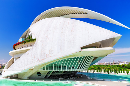 felix: VALENCIA, SPAIN - SEPT 10: Palace of Arts (El Palau de les Arts Reina Sofia) - City of Arts and Sciences. September 10, 2014 in Valencia, Spain. Every year,Valencia welcomes more than 4 million visitors.