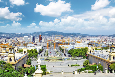 espanya: View in Barcelona on Placa De Espanya( Square of Spain),Spain.