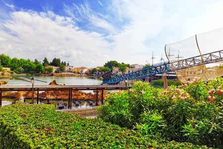 switchback: Roller Coaster in funny amusement  park.