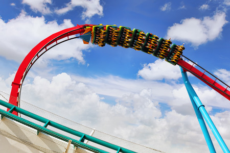 switchback: Amusement park in Spain near Salou- Port Aventura, near Salou,  Spain