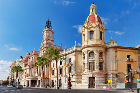 Cityscape historical places of Valencia - city in Spain , Catalonia.