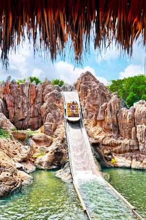 Amusement park in Spain near Salou- Port Aventura. Salou, Spain Editorial