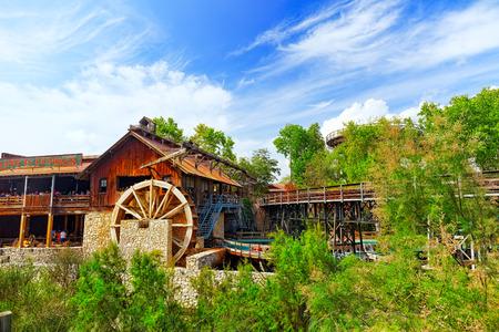 port aventura: Amusement park in Spain near Salou- Port Aventura. Salou