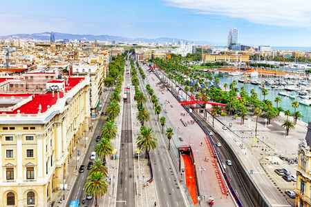 Panorama on Barcelona city from Columbus monument.Barcelona. Spain photo