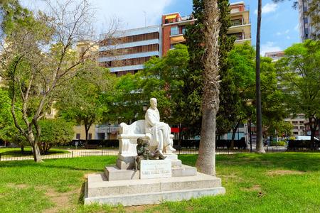 gomez: Statue in park  of Valencia -for Ramon Gomez Ferrer, Catalonia.