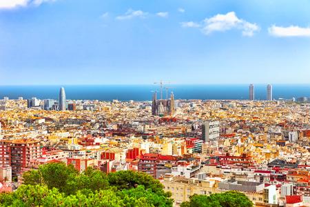 Panorama op Barcelona