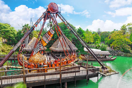 port aventura: Amusement park in Spain near Salou- Port Aventura, near Salou,  Spain