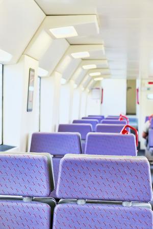 highspeed: Interior of the high-speed train. Spain