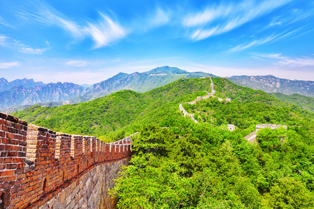 great: Great Wall of China, section Mitianyu. Suburbs of Beijing.