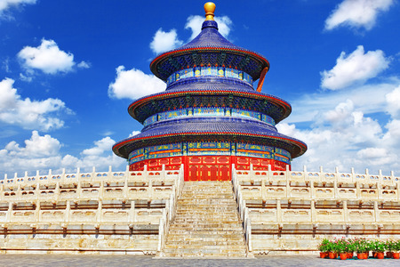 Wonderful and amazing temple - Temple of Heaven in Beijing, China Editorial