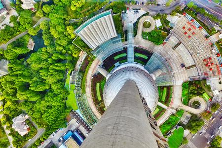 Mooi en kantoor wolkenkrabbers, stad gebouw van Pudong, Shanghai, China.