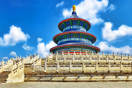 heaven: Wonderful and amazing temple - Temple of Heaven in Beijing, China Stock Photo