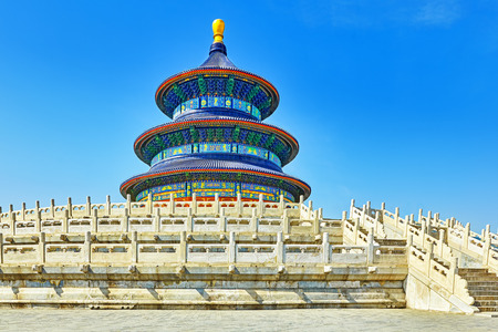 temple tower: Wonderful and amazing temple - Temple of Heaven in Beijing, China Editorial