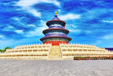 heaven: Wonderful and amazing temple - Temple of Heaven in Beijing, China Editorial