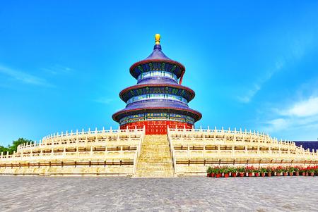 Prachtige en geweldige tempel - de Tempel van de Hemel in Beijing, China Redactioneel