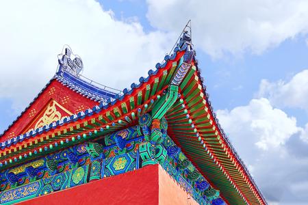 cielo: Pagodas, pabellones dentro del complejo del Templo del Cielo en Beijing, China.