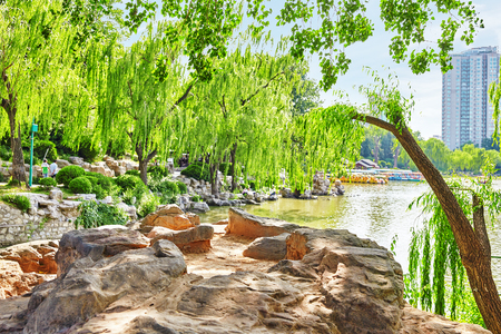 water garden: Typical Chinese garden,  park . Beijing, China