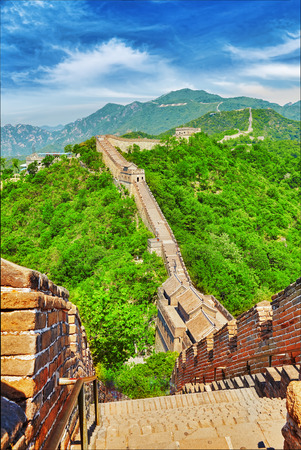 suburbs: Great Wall of China, section Mitianyu. Suburbs of Beijing.