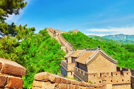simatai: Great Wall of China, section Mitianyu. Suburbs of Beijing.
