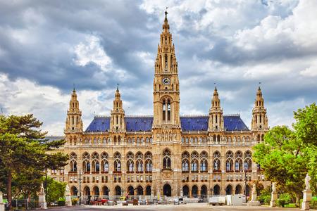 cityhall: Viennas Town Hall (Rathaus) at daytime.Vienna. Austria.