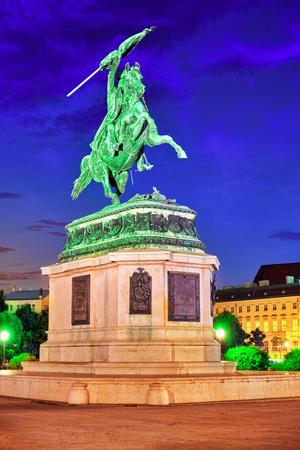 archduke: Statue of Archduke Karl-Ludwig-John on Heldenplatz. Vienna. Austria.