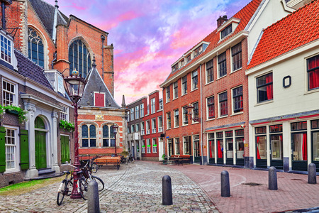 Beautiful views of the streets, ancient buildings of Amsterdam - also call Venice in the North. Netherland