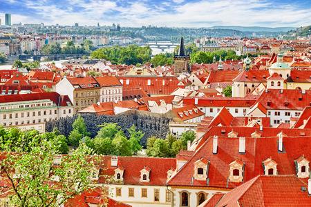 vitus: Area Lesser Town of Prague, near the church Saint Vitus, Ventseslaus and Adalbert. Czech Republic.
