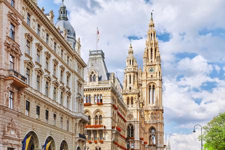 rathaus: Viennas Town Hall (Rathaus) at daytime.Vienna. Austria.