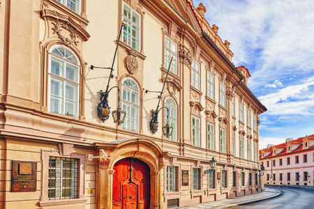 Parliament ( Senat ) of the Czech Republic. Quarters and streets on Prague's Mala Strana(Lesser Town of Prague). District of the city of Prague, Czech Republic, and one of its most historic regions.Czech Republic.