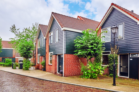 dutch typical: Typical, authentic village with cozy houses of the  countryside in the Netherlands. Editorial