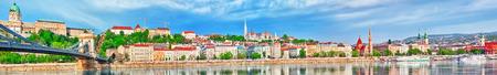 buda: Panorama on the Buda side of the Hungarian capital- Budapest.