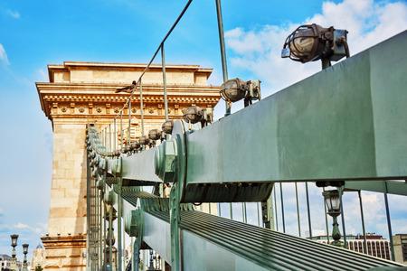 szechenyi: Szechenyi Chain Bridge-one of the most beautiful bridges of Budapest, Hungary