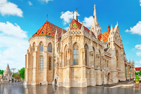matthias: St. Matthias Church in Budapest. One of the main temple in Hungary.
