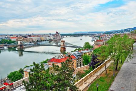szechenyi: Szechenyi Chain Bridge-one of the most beautiful bridges of Budapest, Hungary.