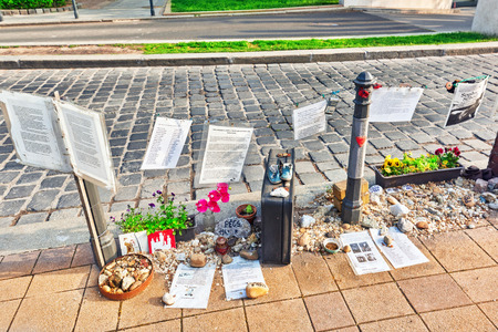 german fascist: BUDAPEST, HUNGARY-MAY 04, 2016: Liberty Square Budapest-Memorial dedicated to the victims of Nazi Occupation during the Second World War in Budapest, Hungary.