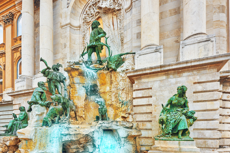 matthias: Matthias Fountain-is a monumental fountain group in the western forecourt of Buda Castle, Budapest. Hungary