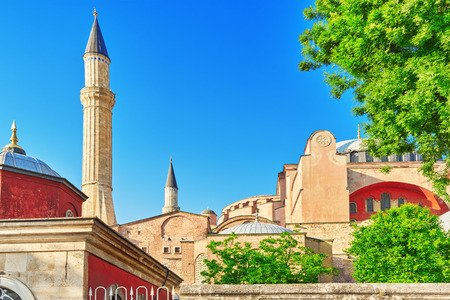 ISTAMBUL, TURKEY-MAY 07, 2016: Beautiful landscape urban view,city streets,people,architecture of the Istambul, one of biggest Turkey city.