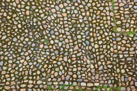 irregularity: Texture of cobblestone background.Badapest. Stock Photo