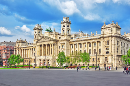 ethnographic: BUDAPEST, HUNGARY- MAY 02, 2016: Beautiful building- Ethnographic Museum,  is a national museum in Budapest in Kossuth Square, Hungary.