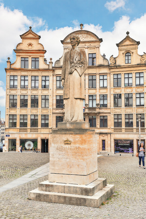 empress: BRUSSELS, BELGIUM - JULY 07, 2016 : City views cozy European cities - Brussels, Belgium and the European Unions capital. Statue for Eligabeth. Editorial