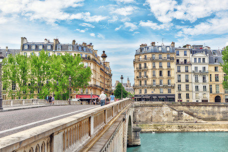 View of the River Seine and most beautiful cities in the world - Paris. France.