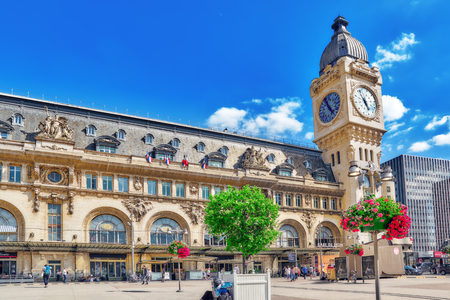 PARIS, FRANCE - JULY 09, 2016 : City views of one of the most beautiful cities in the world - Paris. Station Gare de Lyon is one of the oldest and most beautiful train stations in Paris. Editorial
