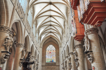 Inside Cathedral of St. Michael and St. Gudula  is a Roman Catholic church in Brussels, Belgium. Redakční