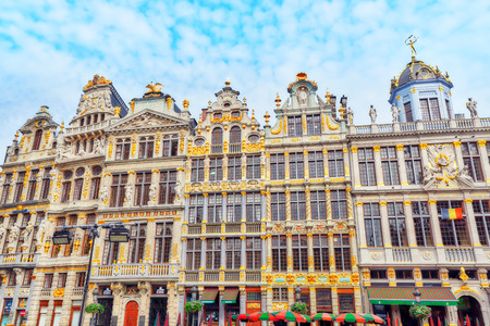 BRUSSELS, BELGIUM - JULY 07, 2016 : Guildhalls on the Grand Place (Grote Markt) is the central square of Brussels. Belgium. Editorial