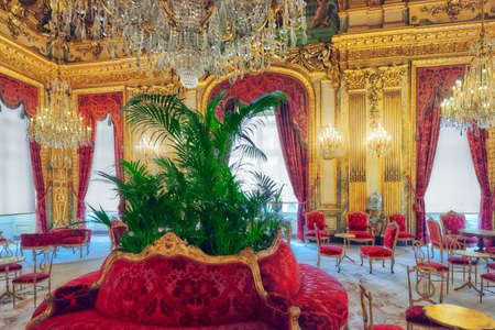 napoleon iii: PARIS, FRANCE - JULY 03, 2016 :  Apartments of Napoleon III. Louvre Museum is the biggest museum in word with nearly 35,000 exhibits.